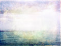 Sea, sky and light grunge image Royalty Free Stock Photo