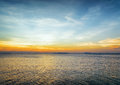 Sea and sky at sunset beautiful landscape Stock Photo
