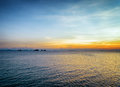 Sea and sky at sunset beautiful landscape Royalty Free Stock Photography
