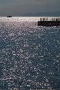 The sea sparkles Royalty Free Stock Photo