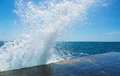 Sea splash background sunlit in summer Royalty Free Stock Images