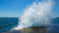 Sea splash sunlit in summer Royalty Free Stock Photography