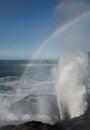 Sea Spray Rainbow Royalty Free Stock Photo