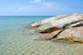 Sea stone in Koh Samui Royalty Free Stock Photo