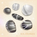 Sea stones abstract decorative background Stock Photos