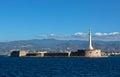 Sea strait Messina Calabria, Sicily, Italy Royalty Free Stock Photo
