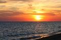 Sea sundown Royalty Free Stock Photo