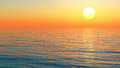Sea sunset bright background sunlight over the ocean Royalty Free Stock Images
