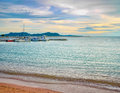 Sea at sunset in hdr beautiful landscape of Royalty Free Stock Photo