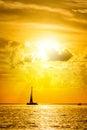 Sea at sunset, Key west Royalty Free Stock Photo