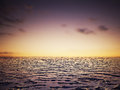 Sea sunset landscape image Royalty Free Stock Photo
