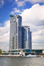 Sea towers skyscraper in gdynia poland modern architecture of on may is the th tallest building meters with floors Royalty Free Stock Photo