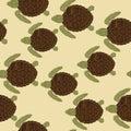 Sea turtles pattern Royalty Free Stock Photo
