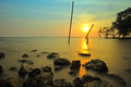 Sea twilight happy evening in thailand Royalty Free Stock Image