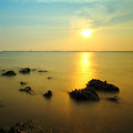 Sea twilight happy evening in thailand Royalty Free Stock Photo