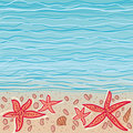 Sea vector background Royalty Free Stock Images