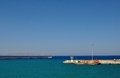 Sea view in heraklion port greece seacoast crit Royalty Free Stock Images