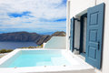 The sea view jacuzzi at luxury hotel Royalty Free Stock Photo