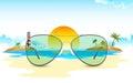 Sea View through Sun Glasses Royalty Free Stock Photo