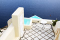The sea view terrace at luxury hotel Royalty Free Stock Photo