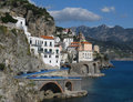 Sea view of village Atrani Stock Photography