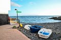 Sea village at the spanish canary islands Stock Photography