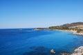 Sea of villasimius in sardinia italy view beautiful Royalty Free Stock Image