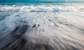 Sea water waves milky water background Royalty Free Stock Photo