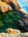 Sea watered pool in greece Royalty Free Stock Image