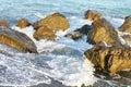 Sea Waves Hitting The Rocks