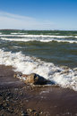 Sea waves lapping on the shore baltic Royalty Free Stock Photos