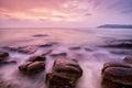 Sea waves lash impact rock Royalty Free Stock Photo