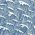 Sea waves (vector seamless wallpaper)