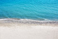 Sea with a white sand beach. Aerial view from above. Royalty Free Stock Photo