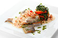 Seabass with Tomato Royalty Free Stock Photos