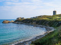 Seacoast on the guernsey island landscape of bailiwick of channel islands Stock Photos