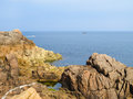 Seacoast and view of the gulf at channel islands Stock Photo