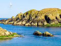 Seacoast and view of the gulf on the island channel islands Royalty Free Stock Photography