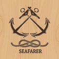 Seafarer Club Emblem Royalty Free Stock Photo