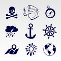 Seafaring icons set eps Royalty Free Stock Images