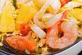 Seafood andd pineapple thai traditional food and Stock Image