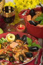 Seafood Dinner Stock Photo