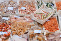 Seafood in a fish market Royalty Free Stock Photo