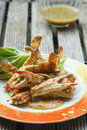Seafood fried crab with curry powder on a plate Stock Photo