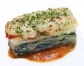 Seafood Lasagna Royalty Free Stock Photo