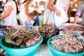 Seafood market Royalty Free Stock Photo