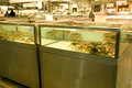 A seafood market with big crabs Stock Photography