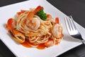Seafood pasta Royalty Free Stock Photo