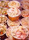 Seafood plates. Stock Photos