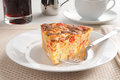 Seafood quiche with juice Royalty Free Stock Image